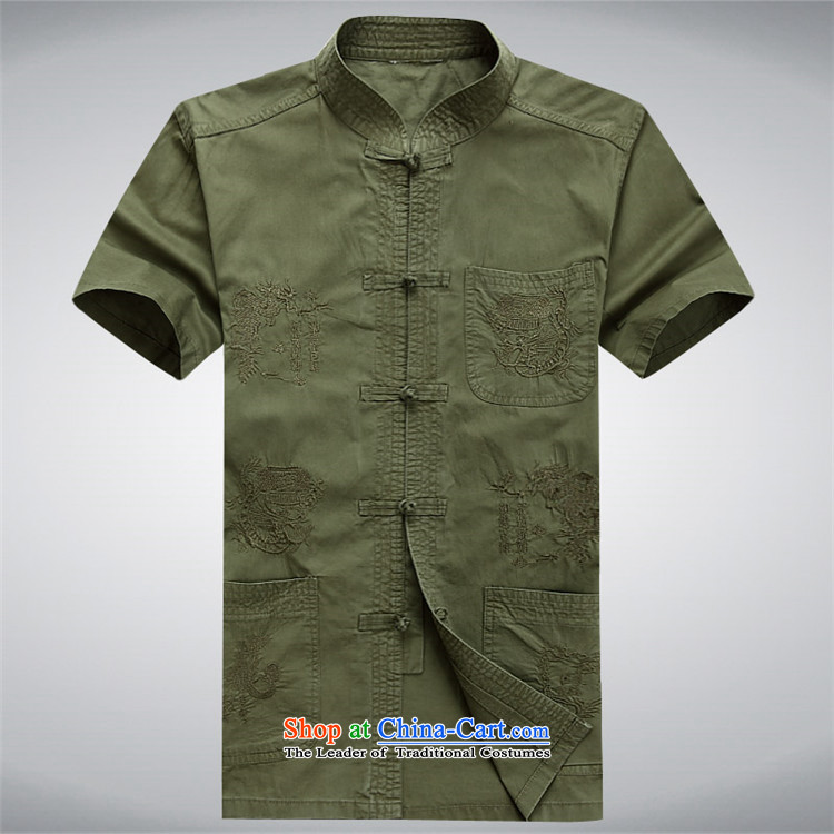 Rollet HIV Tang dynasty in the number of older men and short-sleeved T-shirt China wind older persons clothes exercise clothing cotton father jackets cardigan khaki聽S picture, prices, brand platters! The elections are supplied in the national character of distribution, so action, buy now enjoy more preferential! As soon as possible.