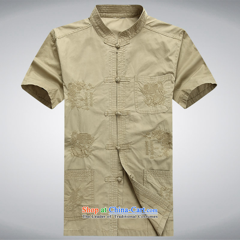 Rollet HIV Tang dynasty in the number of older men and short-sleeved T-shirt China wind older persons clothes exercise clothing cotton father jackets cardigan khaki聽, HIV (AICAROLINA ROLLET) , , , shopping on the Internet