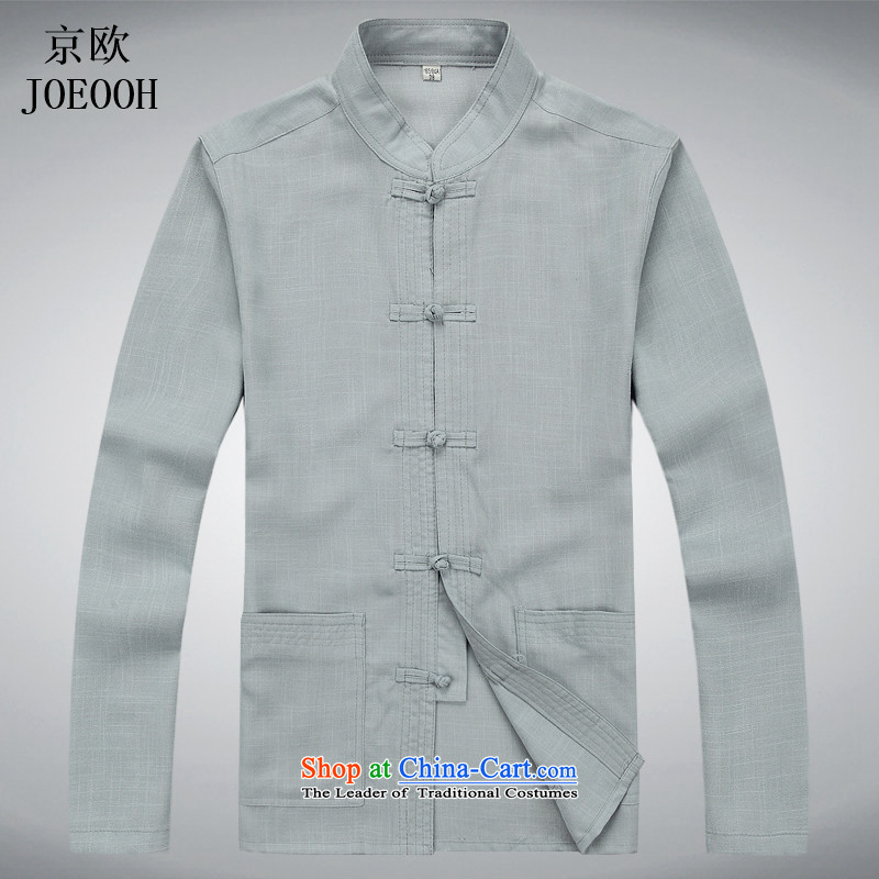 Beijing Summer Europe New Tang Dynasty Men's Long-Sleeve men of older persons in the Han-China wind Long-sleeve kit gray suit聽XXL, Putin (JOE OOH) , , , shopping on the Internet