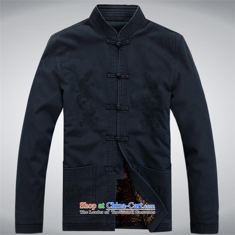 Kanaguri mouse men Tang jacket pure cotton collar in elderly men casual jacket Dark Blue聽M picture, prices, brand platters! The elections are supplied in the national character of distribution, so action, buy now enjoy more preferential! As soon as possible.