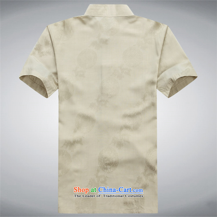 Hiv Rollet spring and summer men Tang dynasty male short-sleeved T-shirt Chinese ROM China wind shirt clip summer gold L pictures, prices, brand platters! The elections are supplied in the national character of distribution, so action, buy now enjoy more preferential! As soon as possible.