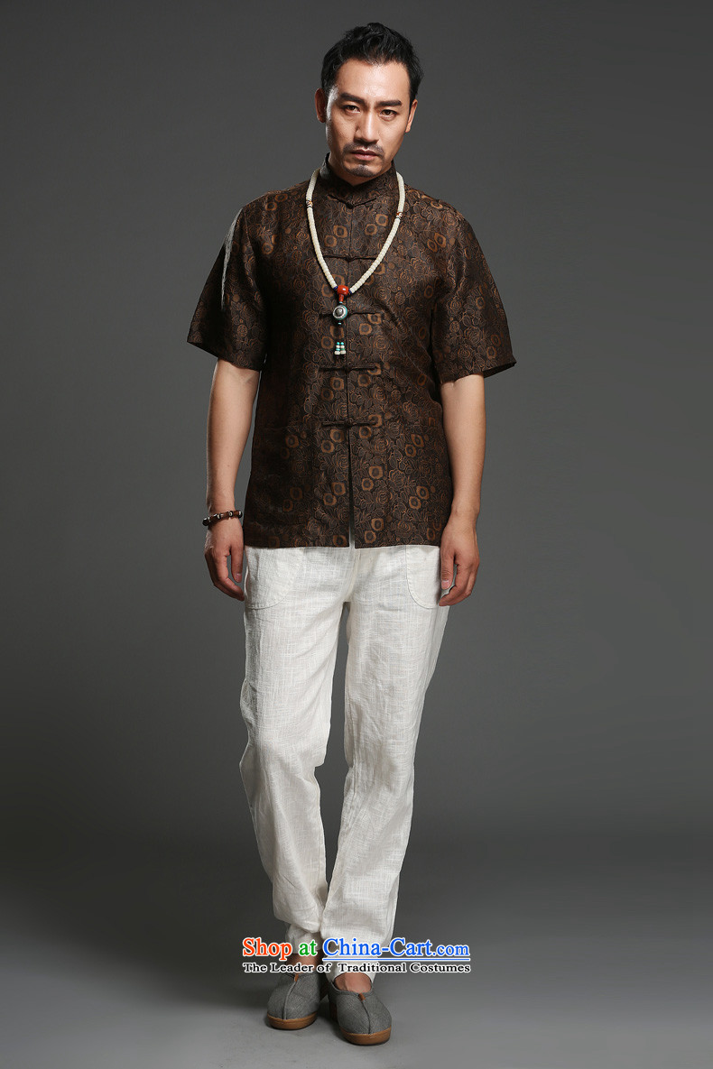 Renowned national sentiment for summer 2015 men's shirts聽100 herbs extract Short-Sleeve Mock-Neck Shirt Silk Tang dynasty (185)Where the picture has red wine, prices, brand platters! The elections are supplied in the national character of distribution, so action, buy now enjoy more preferential! As soon as possible.