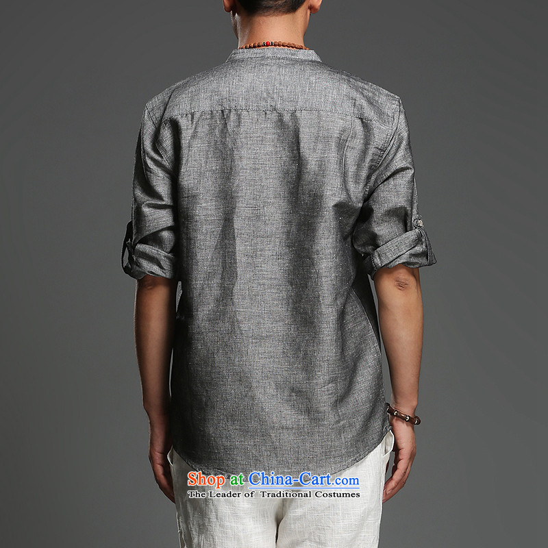 Renowned Chinese China wind men Han-Tang dynasty men men's summer short-sleeved gray175(XL), renowned (CHIYU) , , , shopping on the Internet