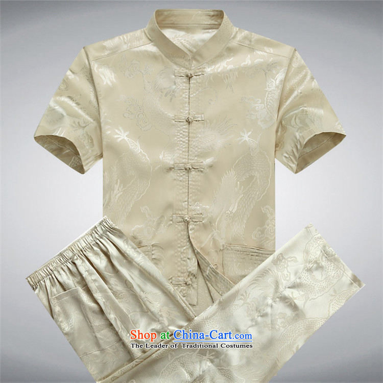 Hiv Rollet summer in older men Tang dynasty short-sleeved T-shirt Kit Chinese middle-aged men and leisure services ball-white kit聽M picture, prices, brand platters! The elections are supplied in the national character of distribution, so action, buy now enjoy more preferential! As soon as possible.