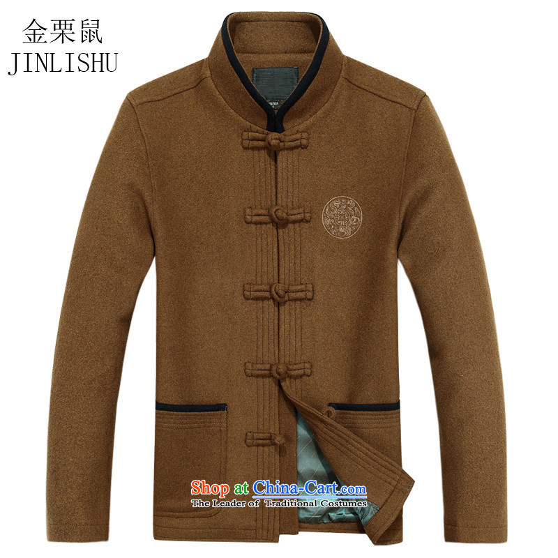 Kanaguri Mouse China wind spring men of older persons in the Tang dynasty a spring men's jackets yellow earth聽L