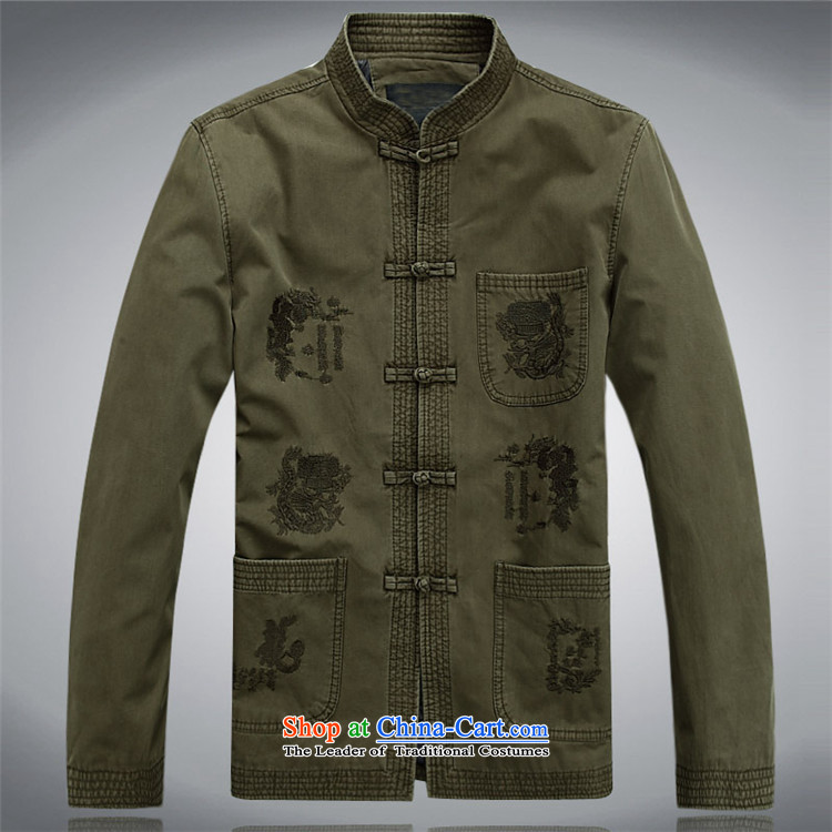 Kanaguri mouse spring and summer men in long-sleeved Tang Dynasty Tang dynasty older men and elderly long-sleeved jacket Tang men green聽XXL picture, prices, brand platters! The elections are supplied in the national character of distribution, so action, buy now enjoy more preferential! As soon as possible.