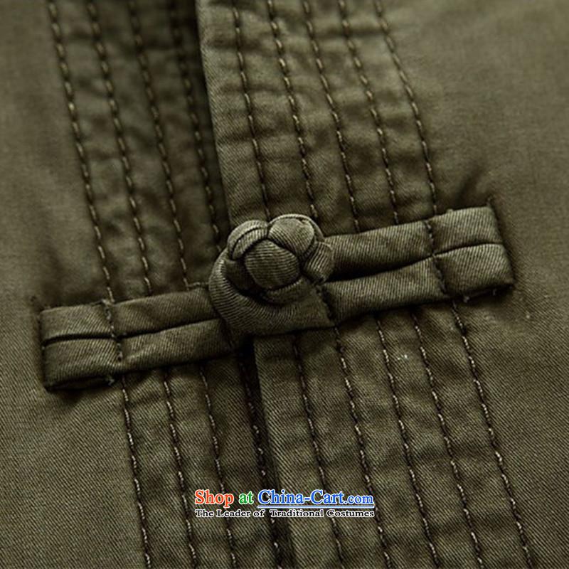 Kanaguri mouse spring and summer men in long-sleeved Tang Dynasty Tang dynasty older men and elderly long-sleeved jacket Tang men green聽XXL, kanaguri mouse (JINLISHU) , , , shopping on the Internet