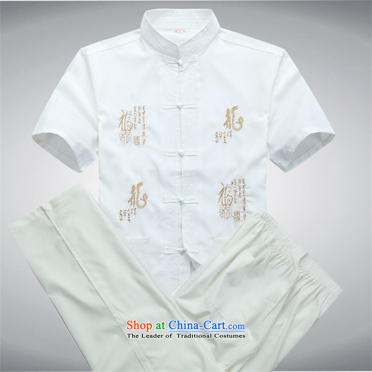 The elderly in the OSCE kyung man Tang dynasty summer short-sleeved Tang Dynasty Package men and the elderly Chinese collar kit father red kit聽M picture, prices, brand platters! The elections are supplied in the national character of distribution, so action, buy now enjoy more preferential! As soon as possible.