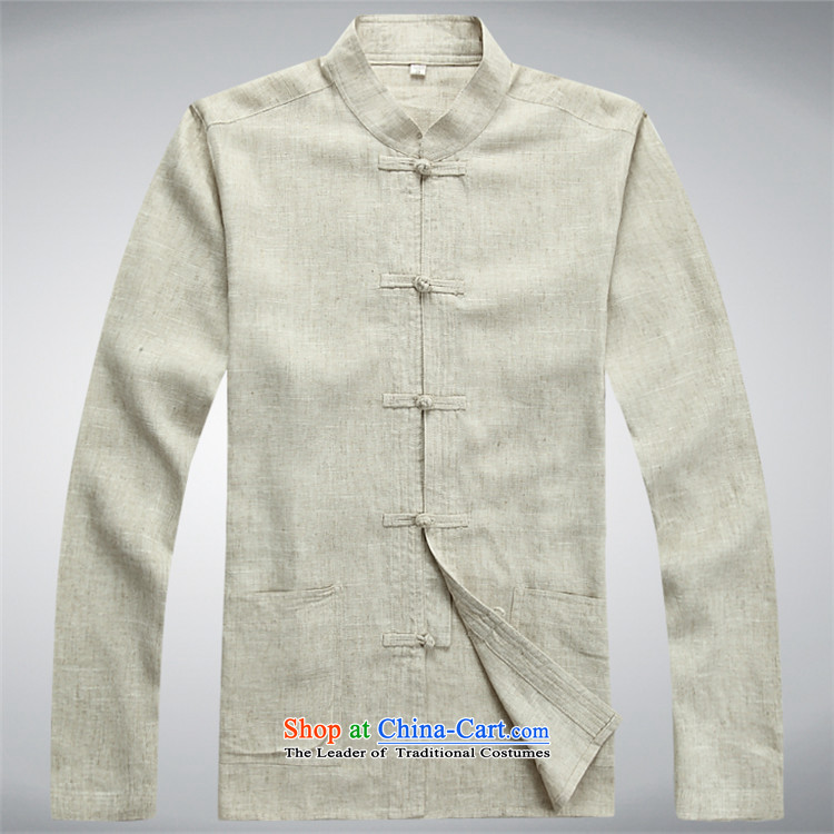 Kanaguri mouse spring China wind men linen Tang dynasty long-sleeved kit of older persons in the summer spring Chinese men beige kit聽S picture, prices, brand platters! The elections are supplied in the national character of distribution, so action, buy now enjoy more preferential! As soon as possible.
