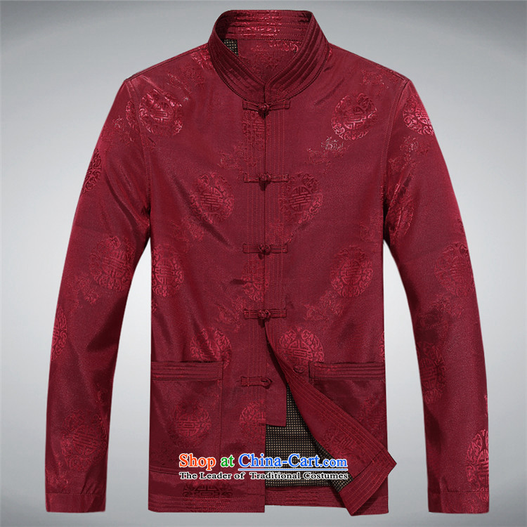 Beijing OSCE elderly men loaded autumn clothes older persons Tang Jacket coat disk port in Chinese Tang dynasty older men long-sleeved red聽XL Photo, prices, brand platters! The elections are supplied in the national character of distribution, so action, buy now enjoy more preferential! As soon as possible.