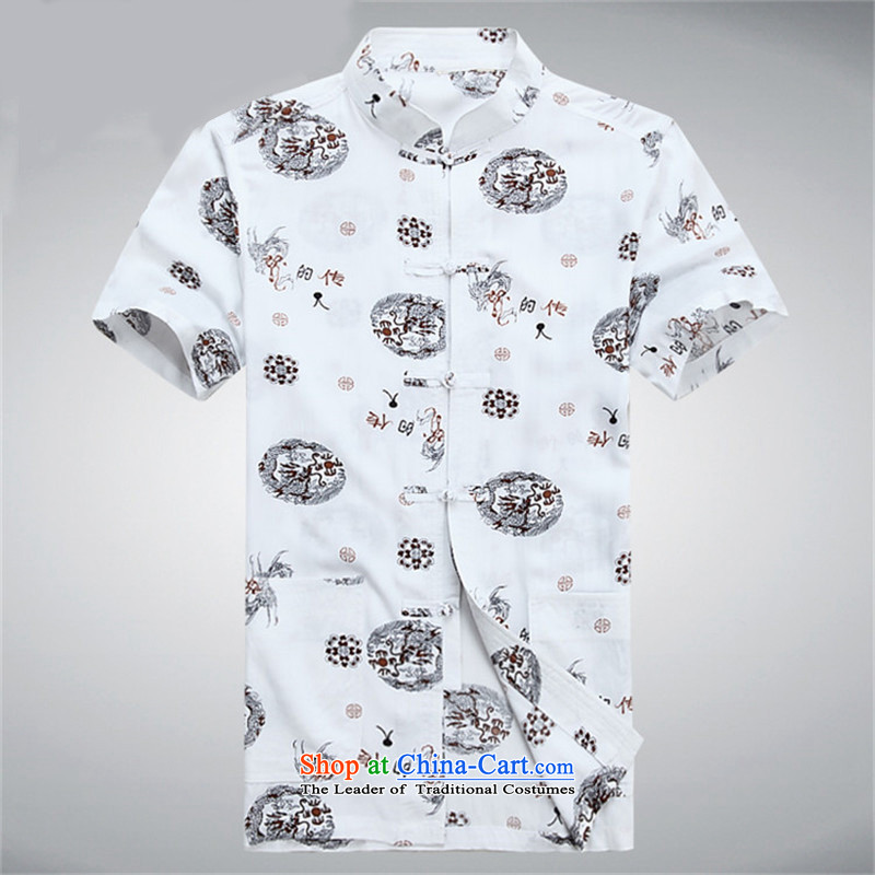 Kanaguri mouse summer men short-sleeved T-shirt summer Tang replacing older men white聽XXXL, kanaguri mouse (JINLISHU) , , , shopping on the Internet