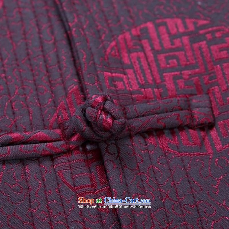Kanaguri mouse in Tang Dynasty older men and long-sleeved shirt men during the spring and autumn men Tang Jacket coat red聽XXXL, kanaguri mouse (JINLISHU) , , , shopping on the Internet