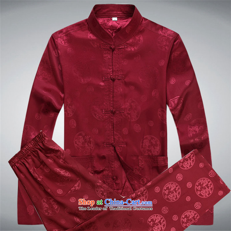 The elderly in the OSCE Kyung Tang dynasty spring and summer New Men long-sleeved kit older persons with Tang Dynasty and father national costume red kit聽XXXL picture, prices, brand platters! The elections are supplied in the national character of distribution, so action, buy now enjoy more preferential! As soon as possible.