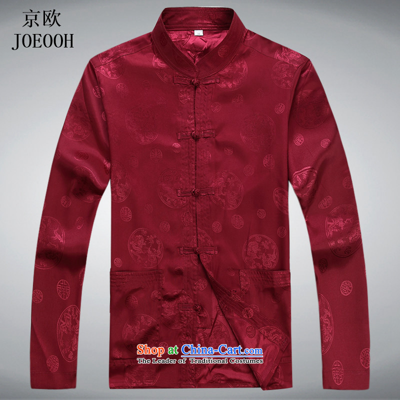 The elderly in the OSCE Kyung Tang dynasty spring and summer New Men long-sleeved kit older persons with Tang Dynasty and father national costume red kit聽XXXL, Putin (JOE OOH) , , , shopping on the Internet
