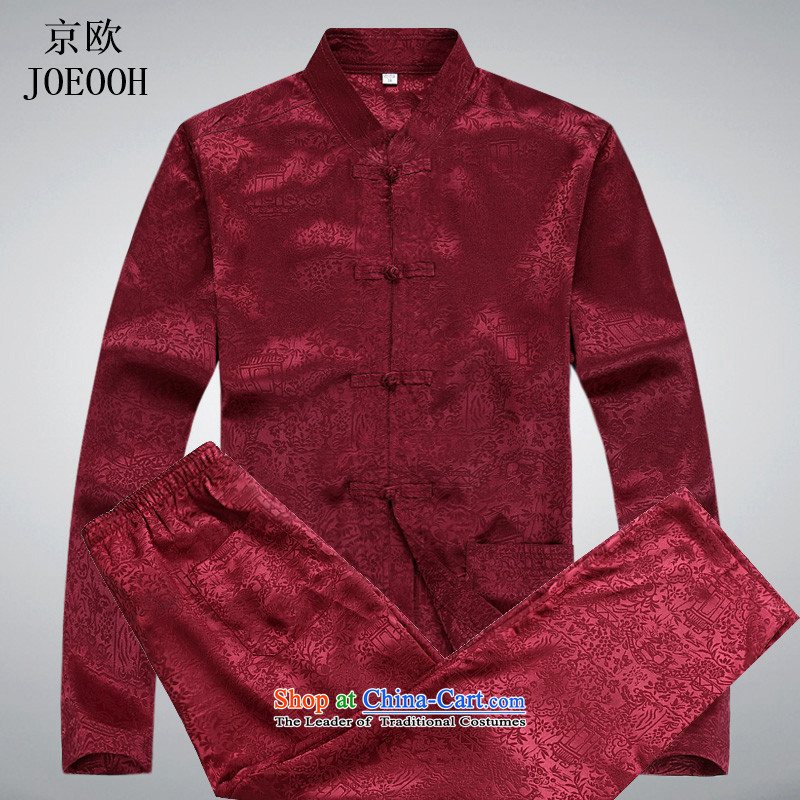 Beijing Tang dynasty OSCE long-sleeved Pullover men's jackets in older clothing Chinese collar red?XXXL Kit