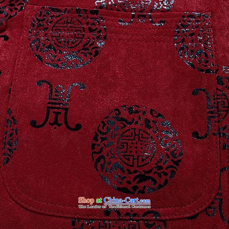 Hiv Rollet spring men Tang dynasty long-sleeved shirt, older men Tang dynasty tray clip older persons long-sleeved Tang dynasty chestnut horses聽, L, HIV (AICAROLINA ROLLET) , , , shopping on the Internet