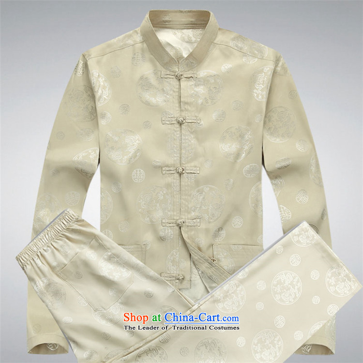 Hiv Rollet Spring and Autumn in New elderly long-sleeved Tang Dynasty Package Men's Mock-Neck Chinese father replacing Tang dynasty blue shirt聽XXL picture, prices, brand platters! The elections are supplied in the national character of distribution, so action, buy now enjoy more preferential! As soon as possible.