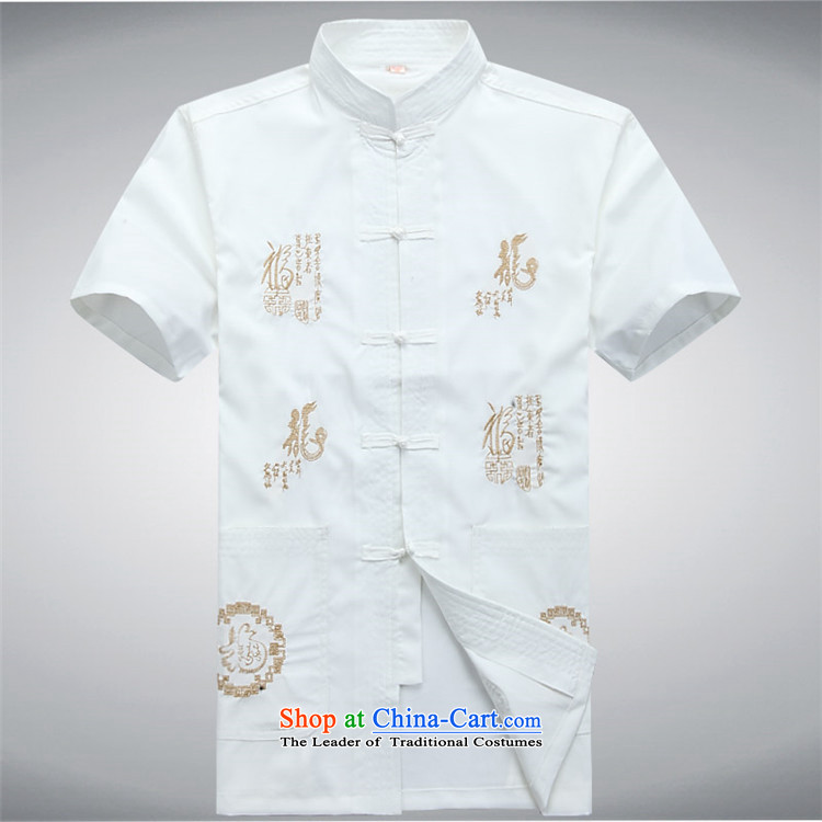 Kanaguri Mouse middle and old age home leisure China wind Kit Chinese Men's Mock-Neck short-sleeved blouses father load Tang white shirt XXL picture, prices, brand platters! The elections are supplied in the national character of distribution, so action, buy now enjoy more preferential! As soon as possible.