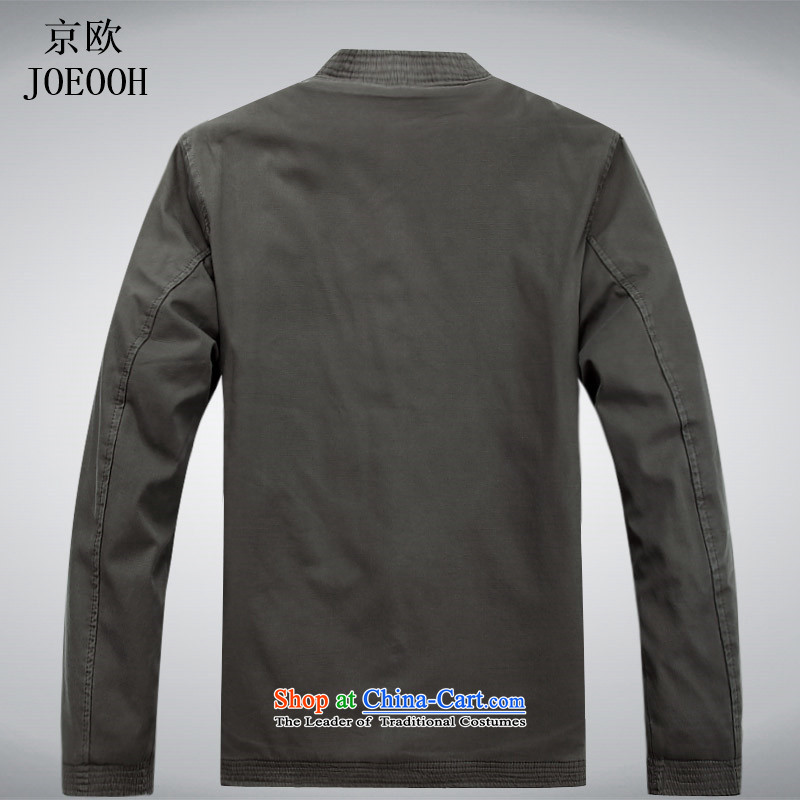Beijing New products in Europe older men Tang dynasty winter clothing long-sleeved thick cotton clothing older Chinese father jacket Tang Gown robe light gray聽XL, Putin (JOE OOH) , , , shopping on the Internet