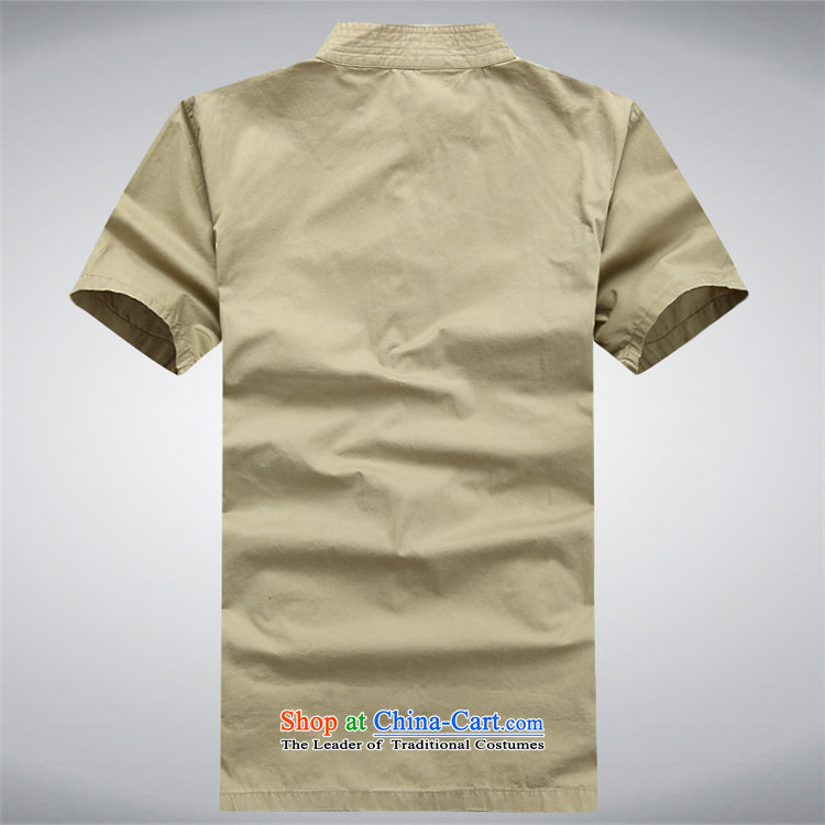 Hiv Rollet summer men Tang dynasty male short-sleeved T-shirt Chinese ROM China wind shirt clip summer khaki S picture, prices, brand platters! The elections are supplied in the national character of distribution, so action, buy now enjoy more preferential! As soon as possible.