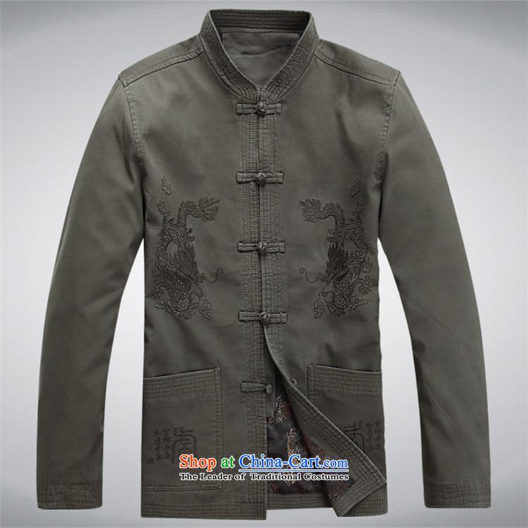 Beijing OSCE Men long-sleeved jacket male Tang Tang blouses sha money-cotton men during the spring and autumn Jacket coat and national service Chinese sage greenXXL picture, prices, brand platters! The elections are supplied in the national character of distribution, so action, buy now enjoy more preferential! As soon as possible.