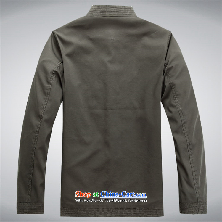 Beijing OSCE Men long-sleeved jacket male Tang Tang blouses sha money-cotton men during the spring and autumn Jacket coat and national service Chinese sage green聽XXL picture, prices, brand platters! The elections are supplied in the national character of distribution, so action, buy now enjoy more preferential! As soon as possible.