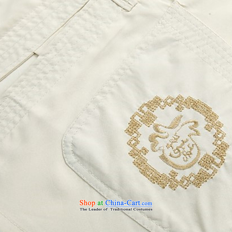 Beijing OSCE men summer short-sleeved Tang dynasty China wind in Tang Dynasty Older ethnic Chinese elderly Tang dynasty beige Kit聽, L, Putin (JOE OOH) , , , shopping on the Internet