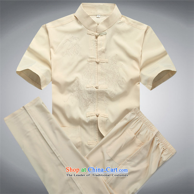 Kanaguri mouse in spring and summer men Tang Dynasty Package short-sleeved elderly Chinese men's China wind grandfather summer short-sleeved Tang dynasty white shirtXXL picture, prices, brand platters! The elections are supplied in the national character of distribution, so action, buy now enjoy more preferential! As soon as possible.