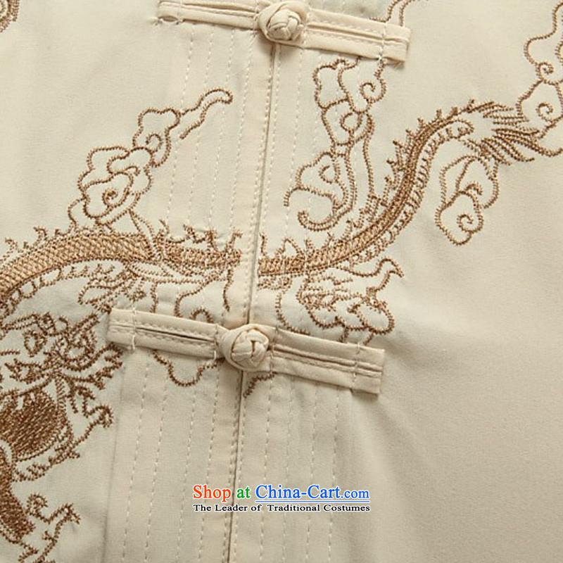 Kanaguri Mouse Suite Tang dynasty male short-sleeved Tang older men in ethnic Han-jacket ball-service shirt that older summer White Kit聽XXXL, kanaguri mouse (JINLISHU) , , , shopping on the Internet
