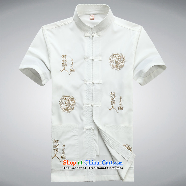 Kanaguri mouse new summer) Older Tang Dynasty Package men short-sleeved shirt Tang dynasty China wind short-sleeved T-shirt with blue shirt Tibetan father L picture, prices, brand platters! The elections are supplied in the national character of distribution, so action, buy now enjoy more preferential! As soon as possible.