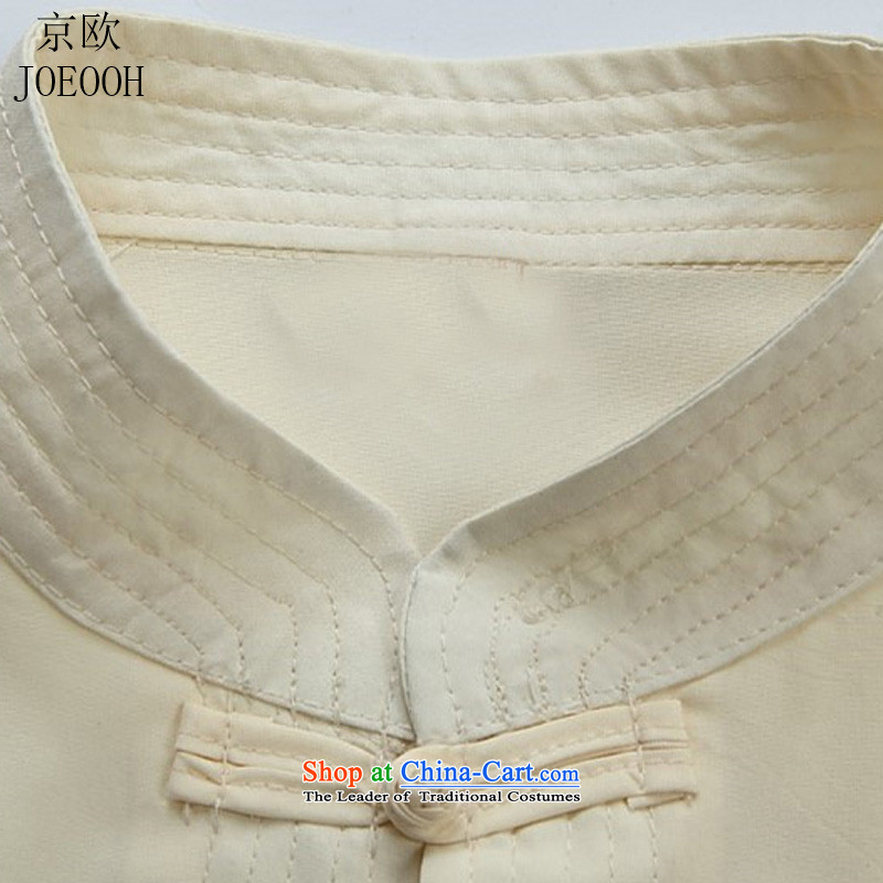 Beijing Europe of the dragon and short-sleeved shirts in older men Tang Dynasty Package for summer short-sleeve kit grandfather Tang Dynasty Package聽XXXL, beige Putin (JOE OOH) , , , shopping on the Internet