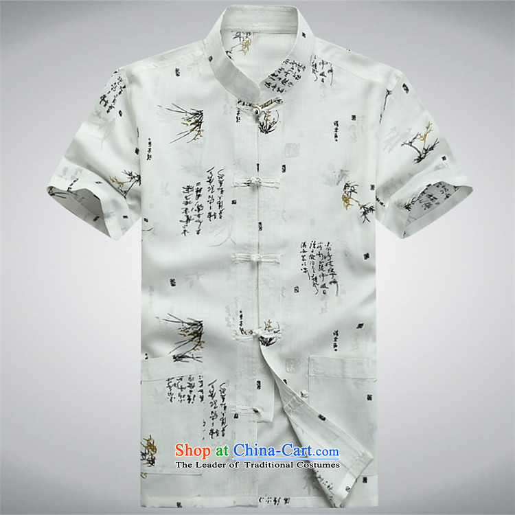 Hiv Rollet new summer Tang dynasty middle-aged short-sleeved T-shirt and China wind men of the middle-aged men's shirt summer beige grandpa M picture, prices, brand platters! The elections are supplied in the national character of distribution, so action, buy now enjoy more preferential! As soon as possible.