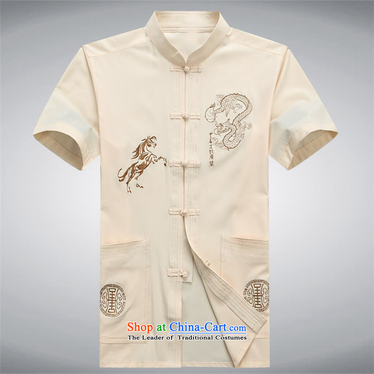 Hiv Rollet summer new middle-aged men Tang Dynasty Chinese shirt Men's Mock-Neck Shirt short-sleeved shirt red XL Photo, prices, brand platters! The elections are supplied in the national character of distribution, so action, buy now enjoy more preferential! As soon as possible.
