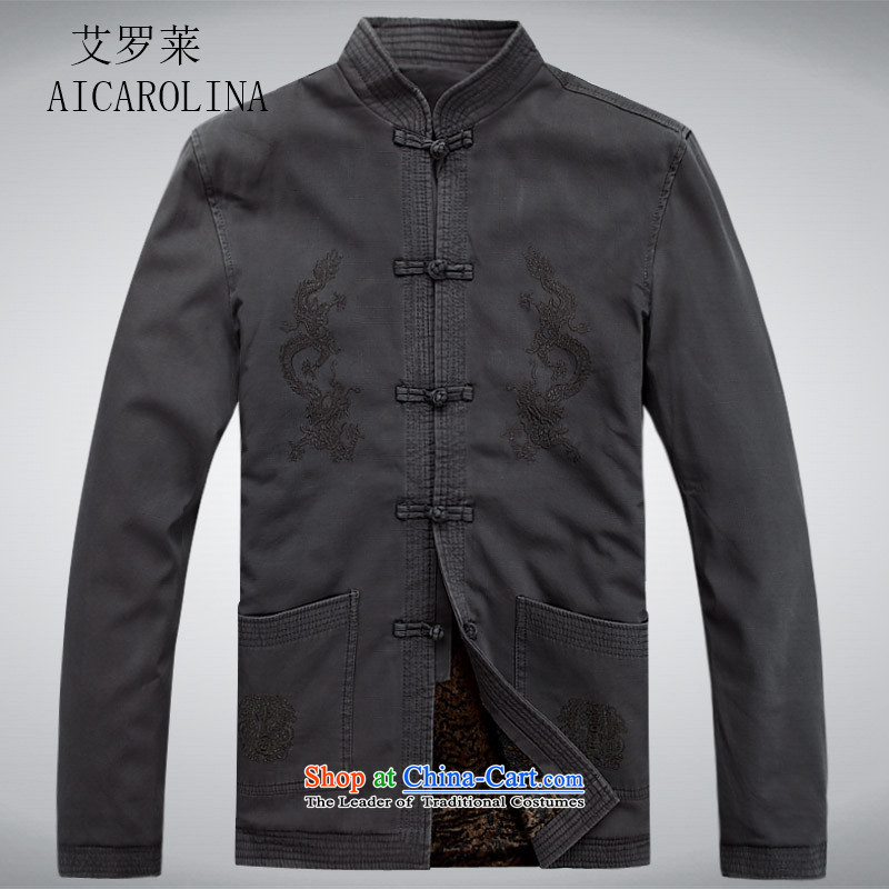 Hiv Rollet men Tang long-sleeved jacket of older persons in the Chinese men's spring outfits thick coat male carbon?M