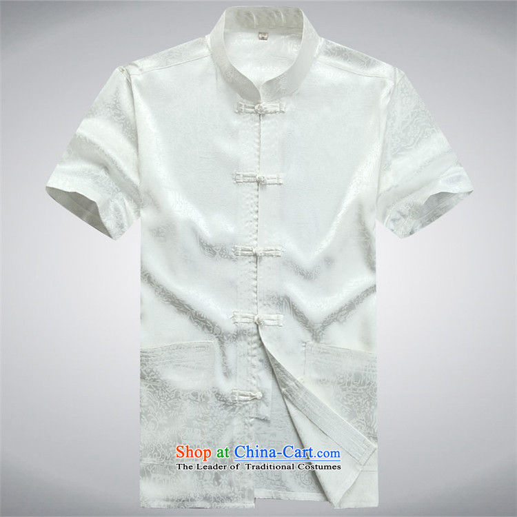 Beijing Summer Europe Tang dynasty men's short-sleeve packaged new men of older persons in the Han-men short-sleeved T-shirt China wind White聽XXL kit picture, prices, brand platters! The elections are supplied in the national character of distribution, so action, buy now enjoy more preferential! As soon as possible.