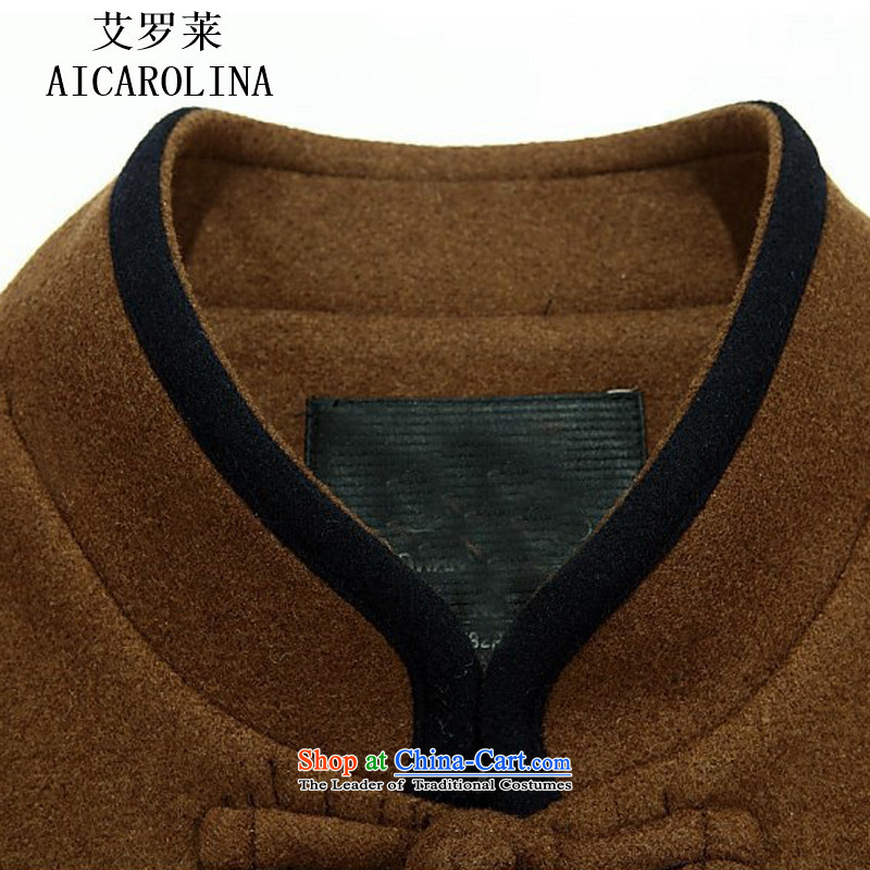 Hiv Rollet men Tang dynasty China wind up detained Men's Mock-Neck spring loaded in the spring and autumn long-sleeved Tang older men's jackets and YellowXL, HIV (AICAROLINA ROLLET) , , , shopping on the Internet