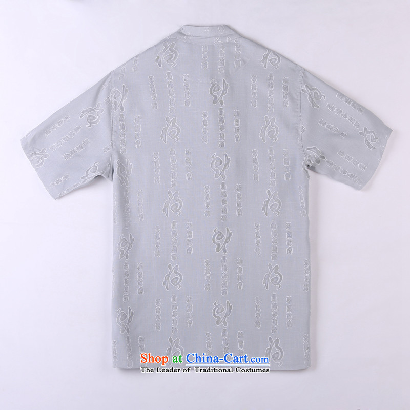 Whig Po 2015 Summer New Products T-shirt linen china wind cool breathability wicking short-sleeved T-shirt men Tang dynasty in Tang Dynasty older聽3聽gray聽XXXL, federal core Chai Lang , , , shopping on the Internet