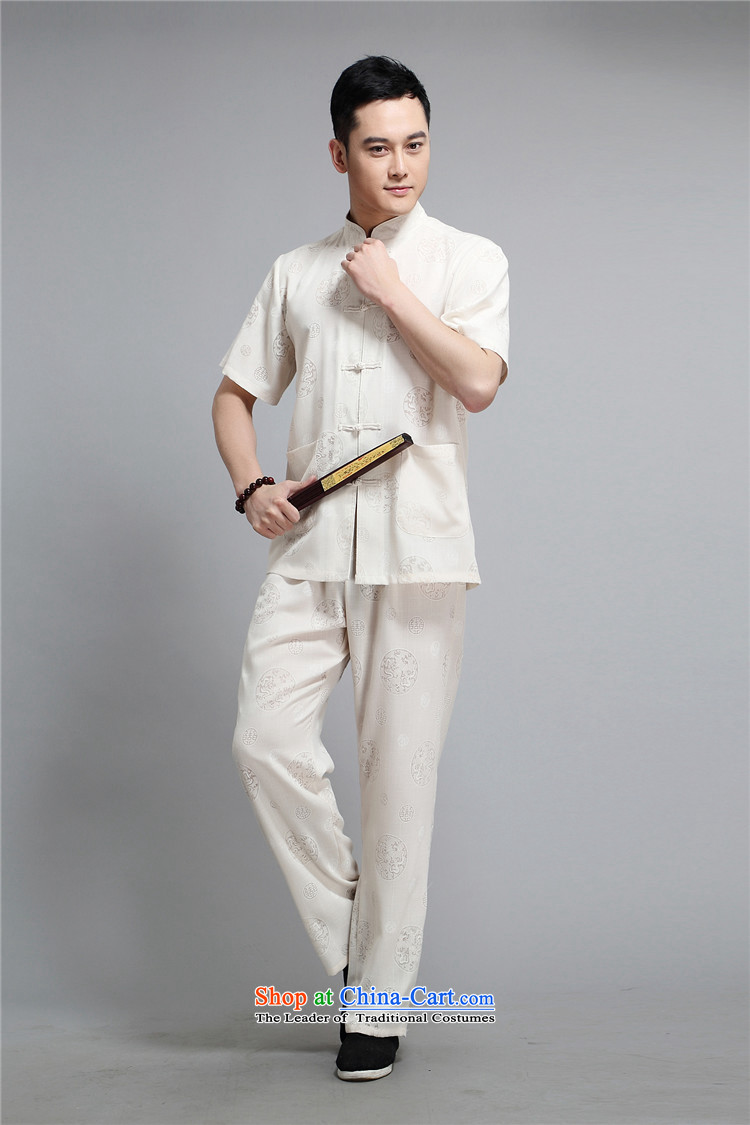 Rollet HIV from older men summer short-sleeved Tang dynasty China National wind load father Chinese collar Leisure Suite White聽XXL picture, prices, brand platters! The elections are supplied in the national character of distribution, so action, buy now enjoy more preferential! As soon as possible.