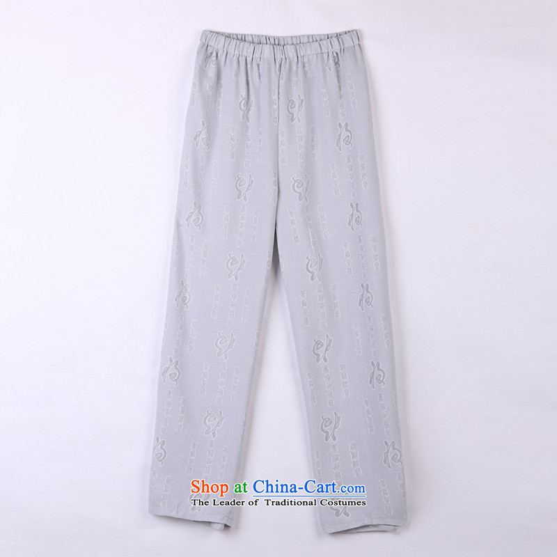 2015 Spring_Summer load new products from Vigers Po Tang dynasty China Wind Pants in older Tang pants 10 Gray聽XXXL_56_