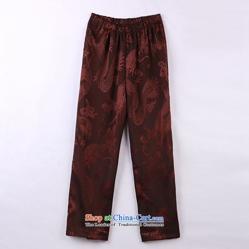 2015 Spring_Summer load new products from Vigers Po Tang dynasty China Wind Pants in older Tang pants聽L_50_ 11 Violet