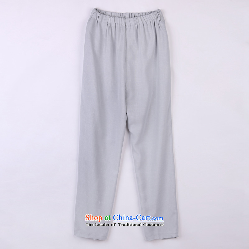 2015 Spring_Summer load new products from Vigers Po Tang dynasty China Wind Pants in older Tang pants 14 Gray燲XXL_56_