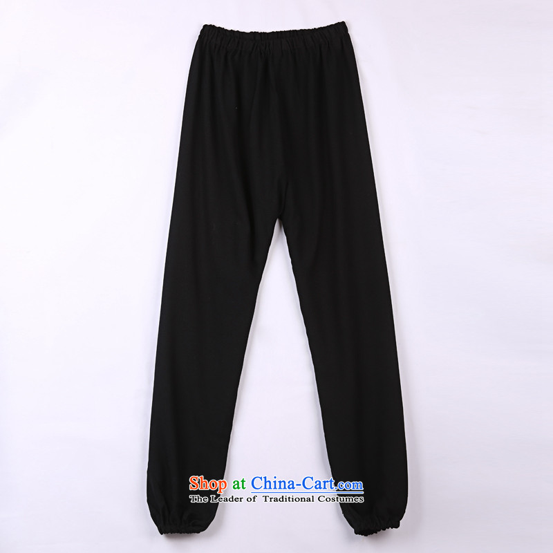 2015 Spring_Summer load new products from Vigers Po Tang dynasty China Wind Pants in older Tang pants燲XXL_56_ 16 Black