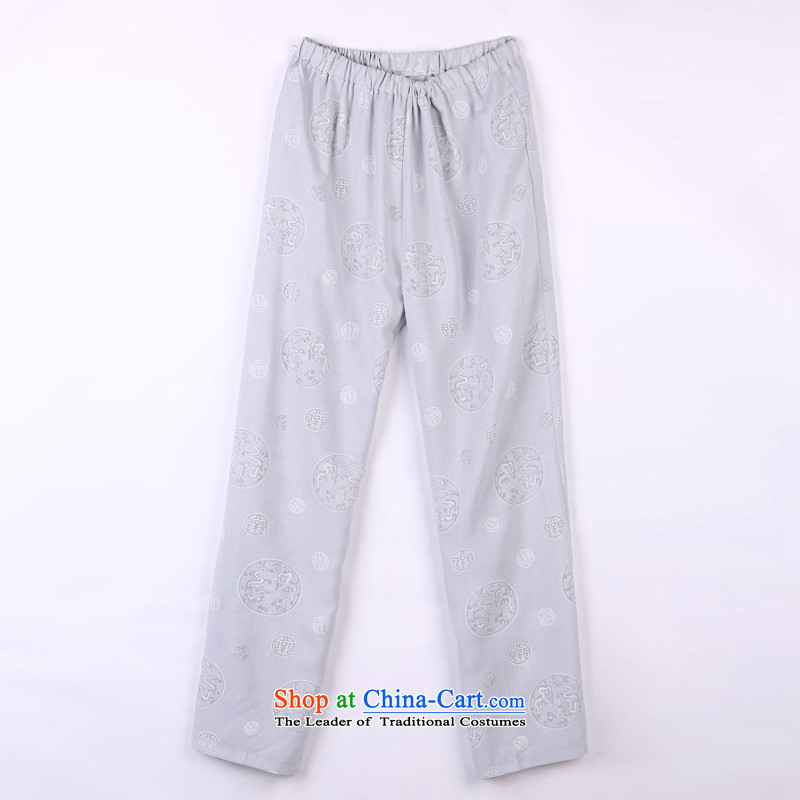2015 Spring_Summer load new products from Vigers Po Tang dynasty China Wind Pants in older Tang pants 17 Gray燣_50_