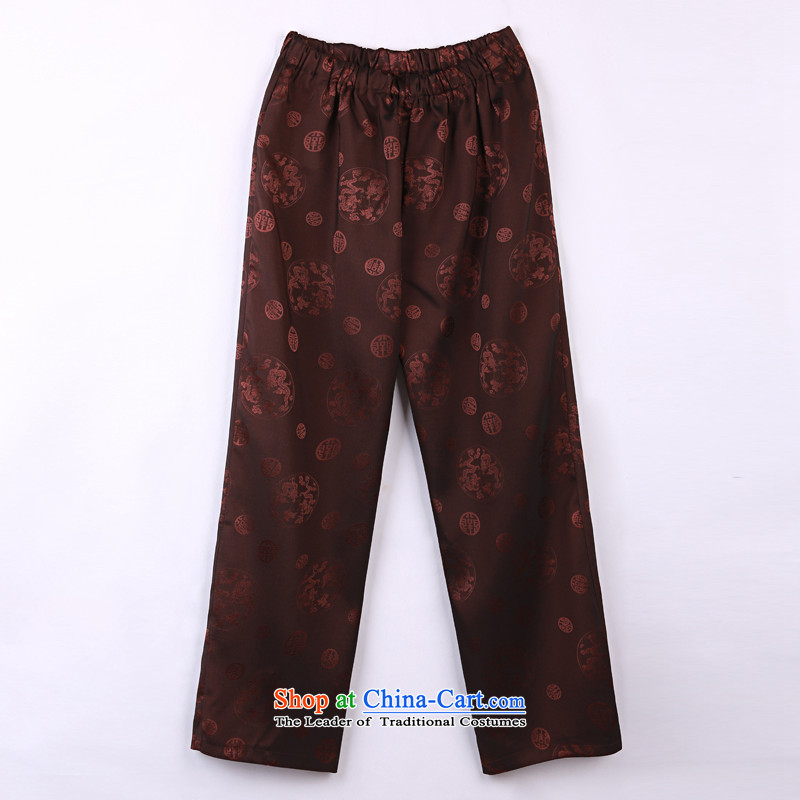 2015 Spring_Summer load new products from Vigers Po Tang dynasty China Wind Pants in older Tang pants燲XXXL 18 Violet