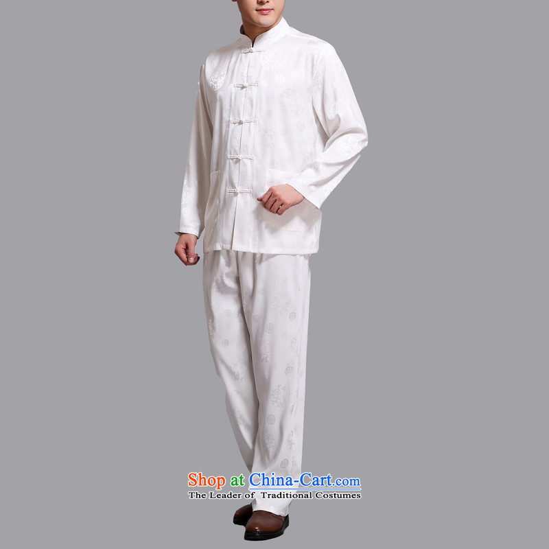 Hiv Rollet 2015 New Tang dynasty and long-sleeved Kit Chinese men in China wind Tang Dynasty Package older white聽XXXL, HIV ROLLET (AICAROLINA) , , , shopping on the Internet