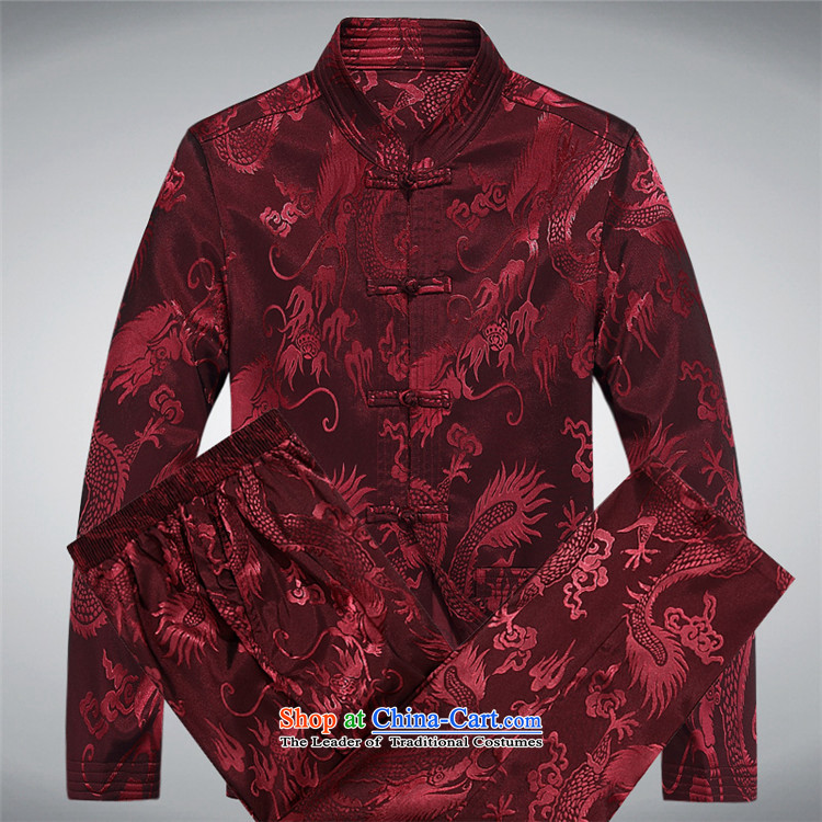 The elderly in the OSCE Kyung Tang dynasty male spring and summer long-sleeved Chinese Chinese tunic kit father blouses ethnic Han-new long-sleeved brown kit聽XXL picture, prices, brand platters! The elections are supplied in the national character of distribution, so action, buy now enjoy more preferential! As soon as possible.