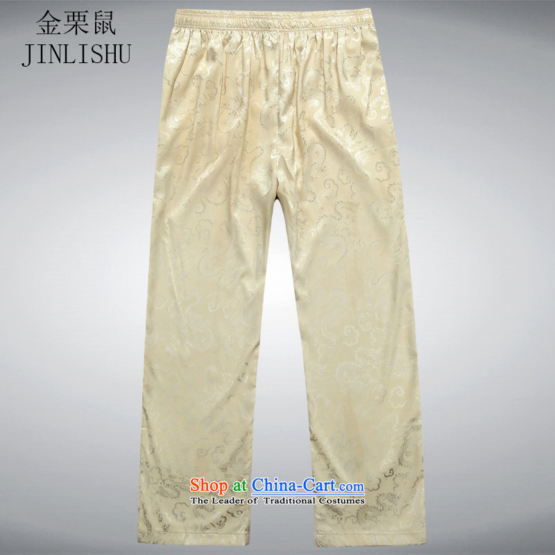 Kanaguri mouse casual pants?2015 Summer new men casual men's trousers, Tang dynasty beige?L