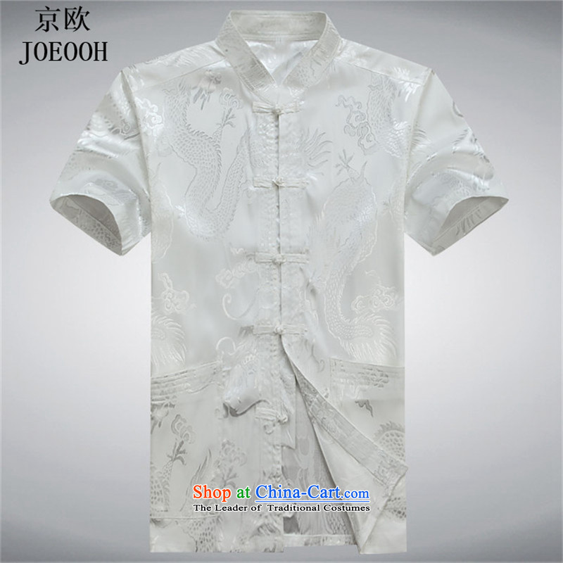 Beijing OSCE men Tang Dynasty Package men of older persons in the father of ethnic replace short-sleeved China wind and Tang dynasty summer white kit聽S, Putin (JOE OOH) , , , shopping on the Internet