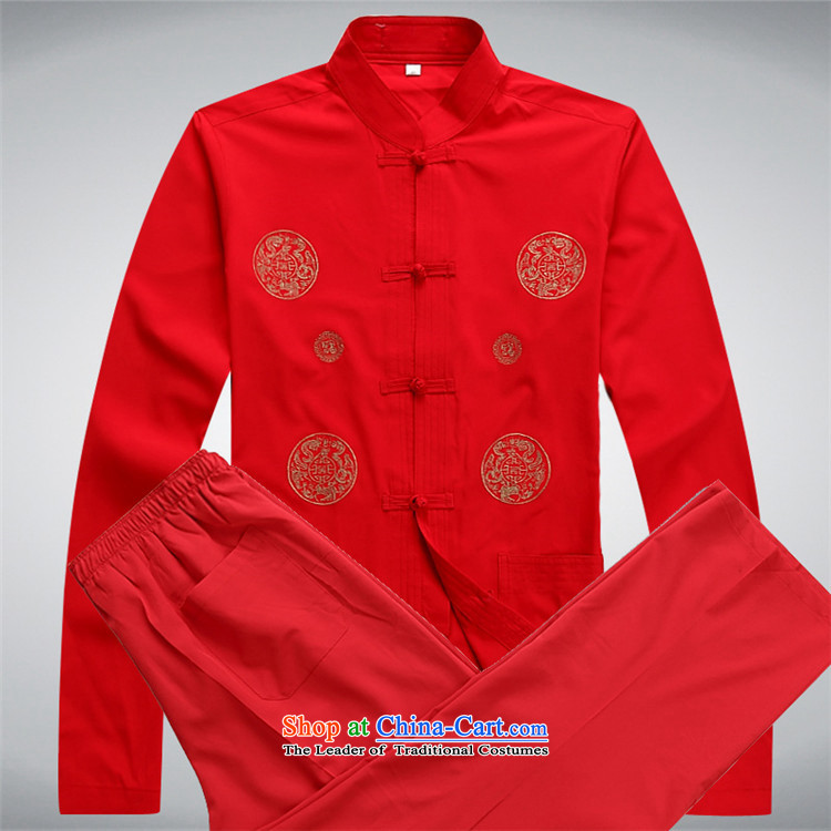 Hiv Rollet new spring and autumn in older men Tang dynasty long-sleeved Kit Tang Dynasty Chinese middle-aged men's shirt white kit聽S picture, prices, brand platters! The elections are supplied in the national character of distribution, so action, buy now enjoy more preferential! As soon as possible.