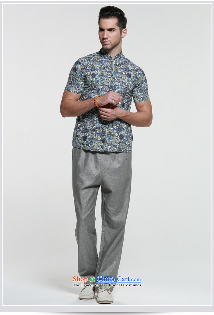 Shuai 2015 Ocean Sau San Tong Men loaded short-sleeved shirt Chinese Cotton Men's shirts collar Tray Tie China Garment Green聽43/185 picture, prices, brand platters! The elections are supplied in the national character of distribution, so action, buy now enjoy more preferential! As soon as possible.